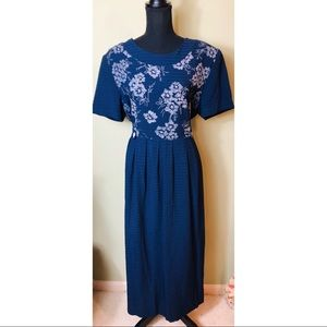 Miss Dorby vintage navy blue long dress